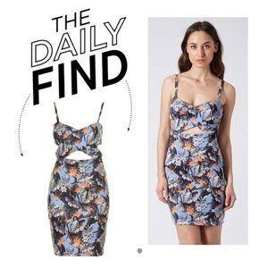 NWT Topshop Tropical Cutout Island Life Dress